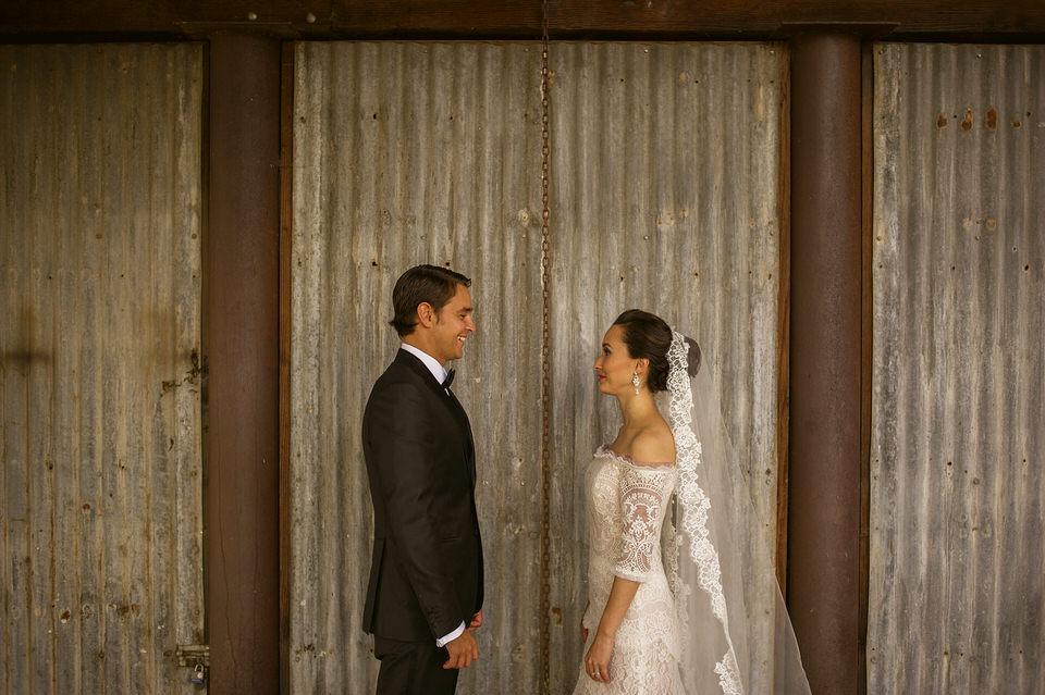 008 bride groom outdoors barn wedding 1