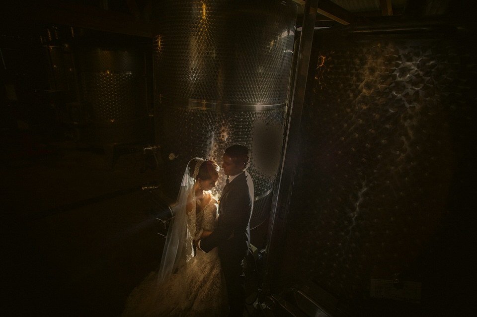bride and groom at guadalupe valley