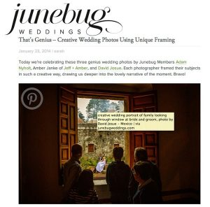 David Josue photography featured at junebug weddings