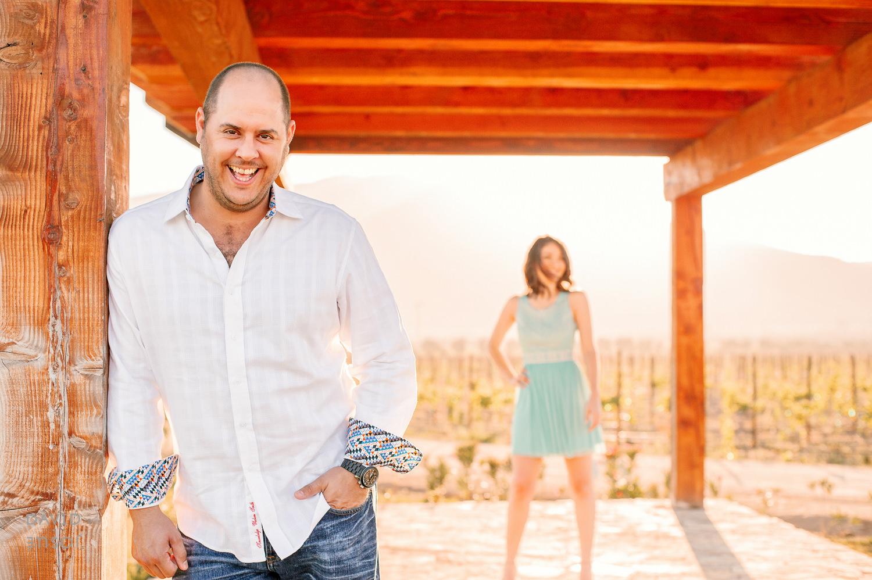 Vineyard Engagement session at El Cielo, Ensenada