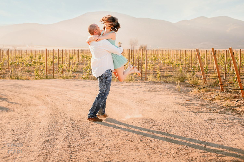 round and round bride att he El Cielo Winery