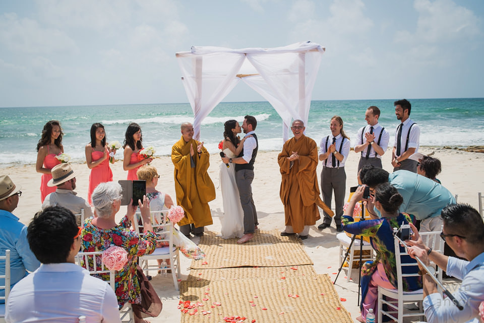 bride-groom-beach-riviera-maya-wedding