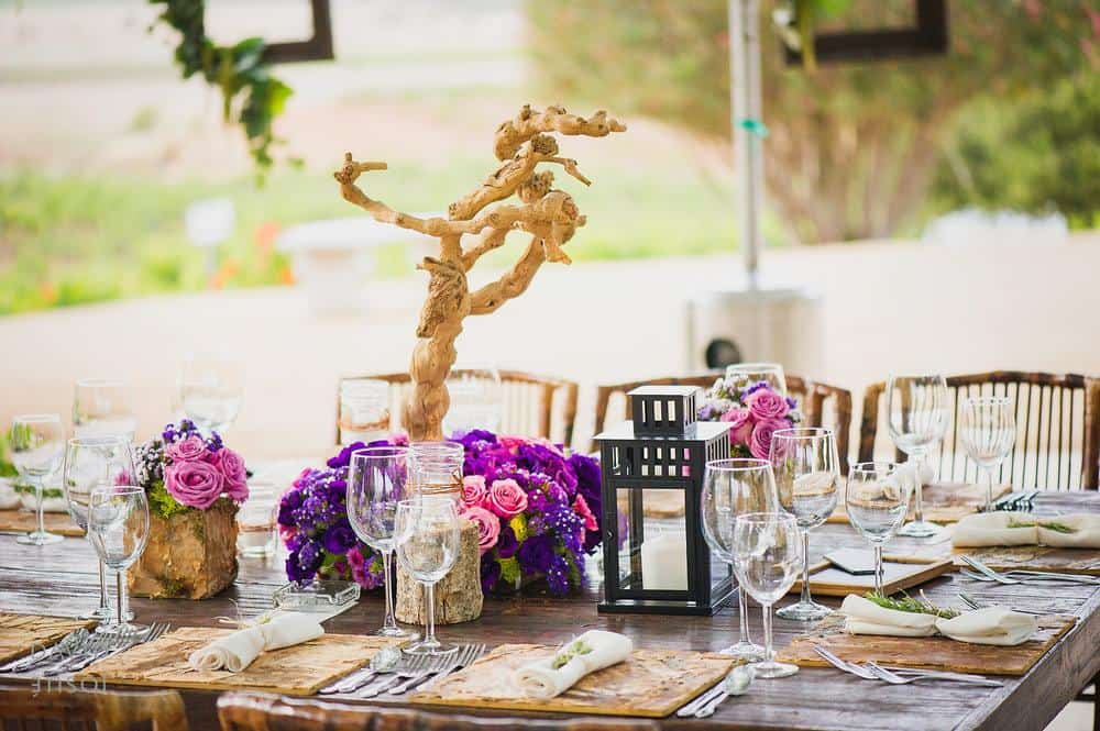 Purple and Lavender roses for wedding centerpieces