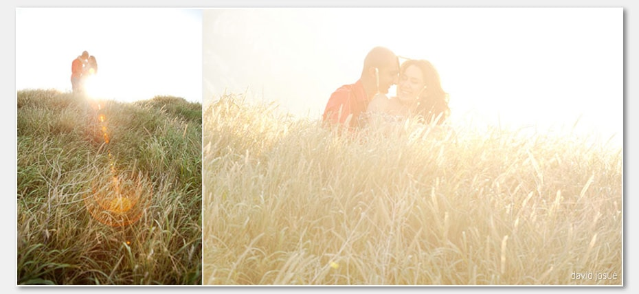 sunset save the date romantic couple